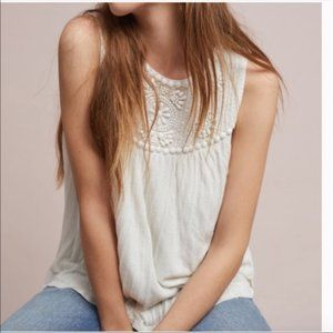 Anthropologie Moulinette Soeurs Beaded Tank Blouse